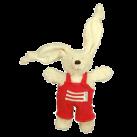Plush Rabby Dungarees - Red (Main) [KJ-60.02.1]