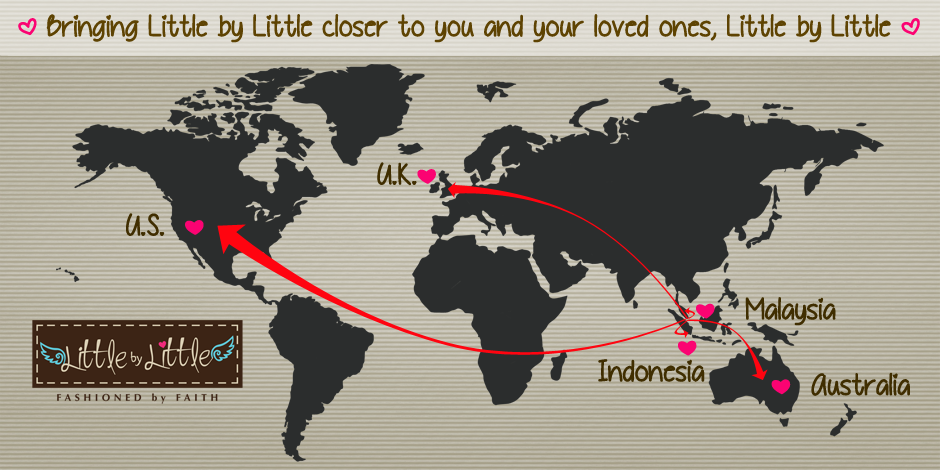 Little by Little now delivers internationally!