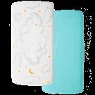 LBL02-C15-CL2P-Little-by-Little-Organic-Cotton-Crib-Sheet-Cloud2Pk